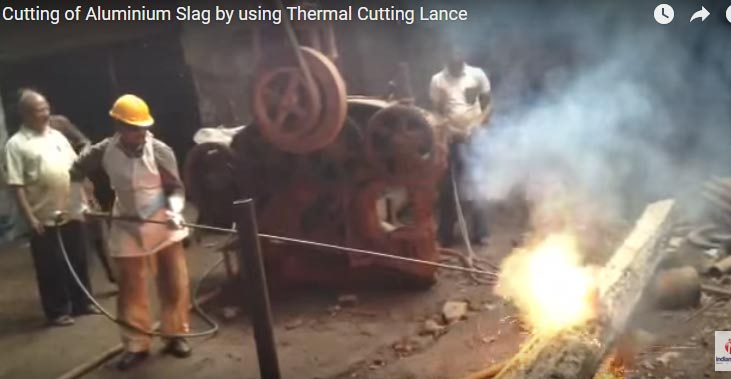 Cutting Large Aluminum Slag